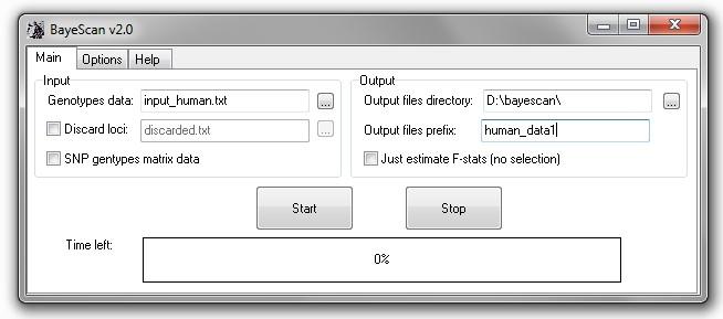 BayeScan full screenshot